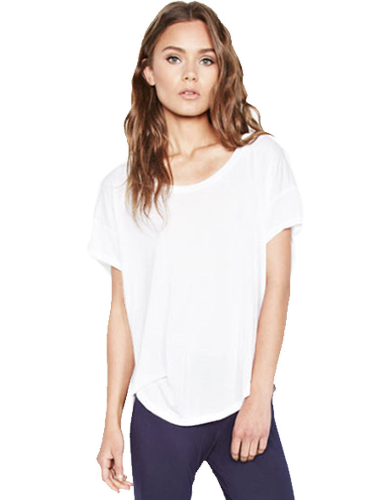 Michael Lauren Jan Scoop Neck Tee - SWANK - Tops - 1