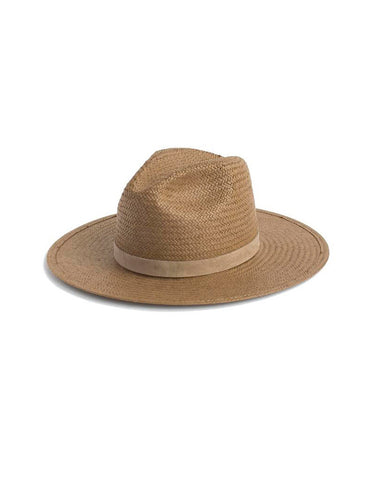 Janessa Leone Adriana Straw Hat in Light Brown