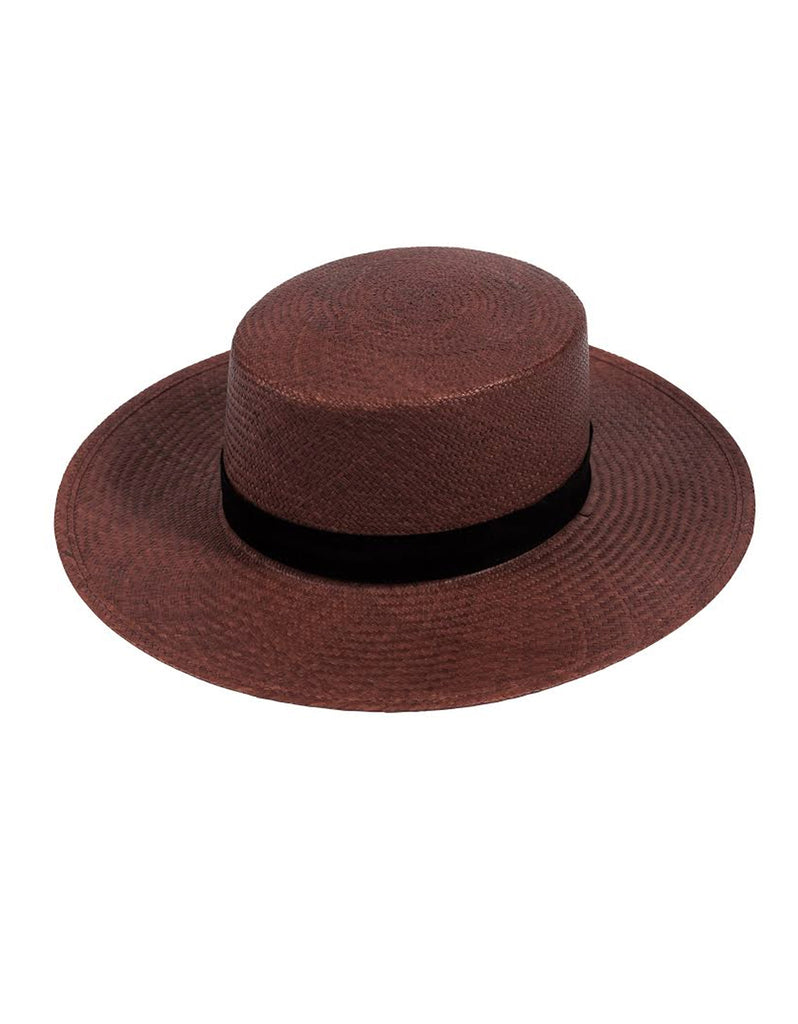 Janessa Leone Bernt Brown Hat - SWANK - Hats - 2