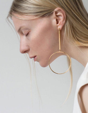 Jenny Bird Edie Hoops in Gold - Large