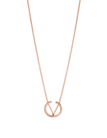 Jenny Bird Arc Pendant in Rose Gold