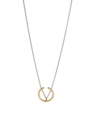 Jenny Bird Arc Pendant in Gold/Silver