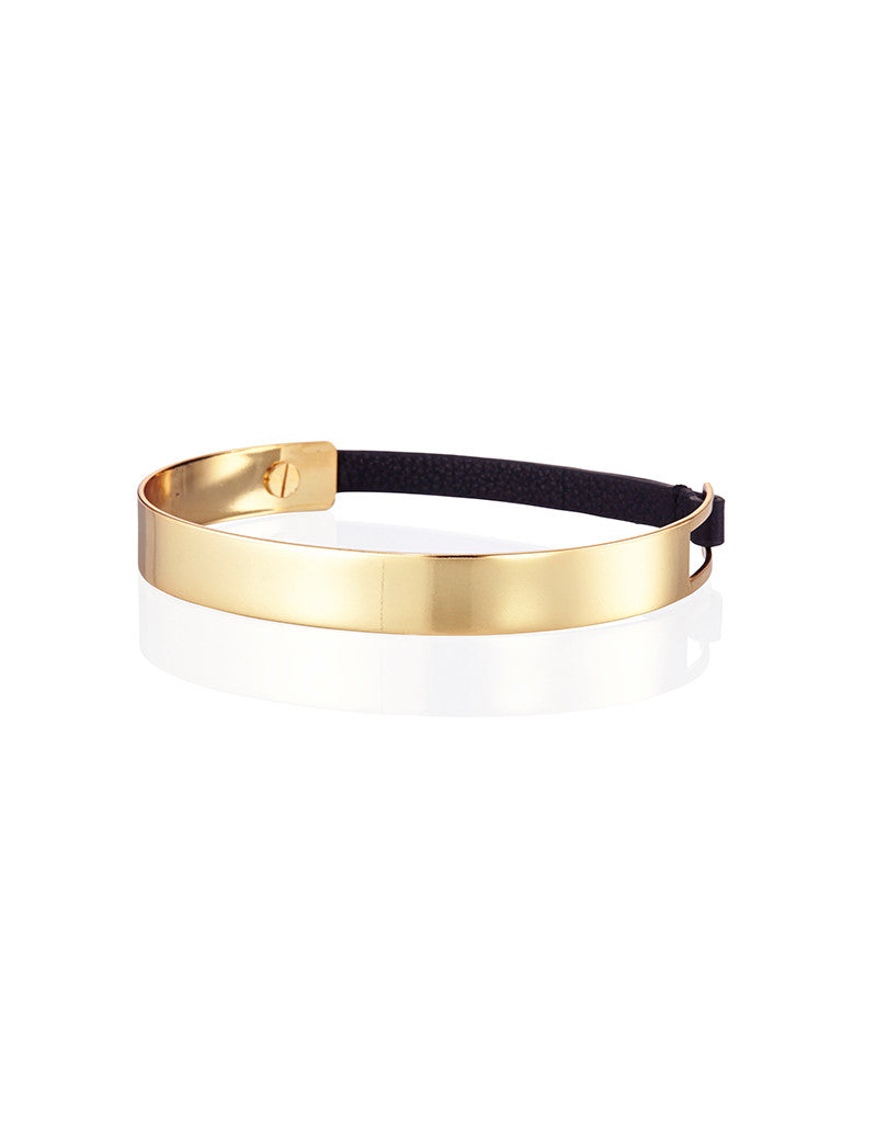 Jenny Bird Jane Choker in High Polish Gold - SWANK - Jewelry - 1