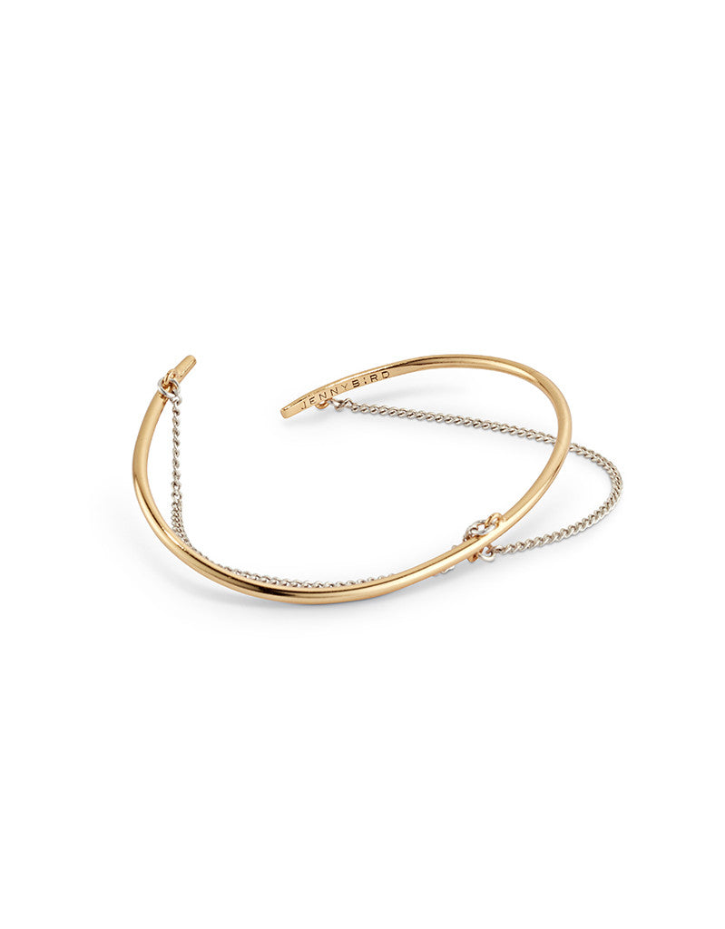 Jenny Bird Rill Cuff in Gold/Silver - SWANK - Jewelry - 1