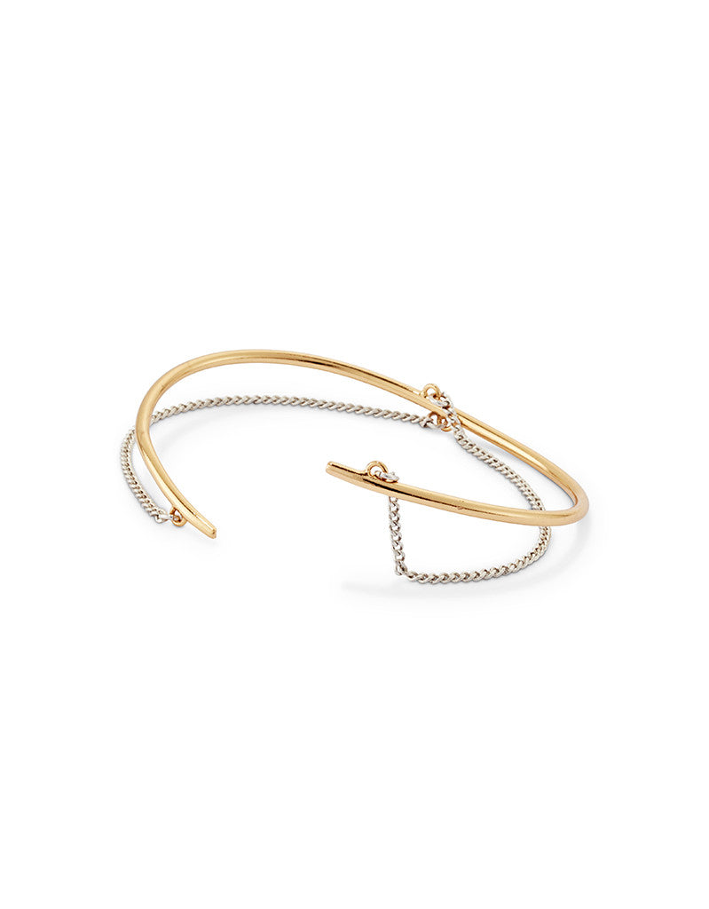 Jenny Bird Rill Cuff in Gold/Silver - SWANK - Jewelry - 2