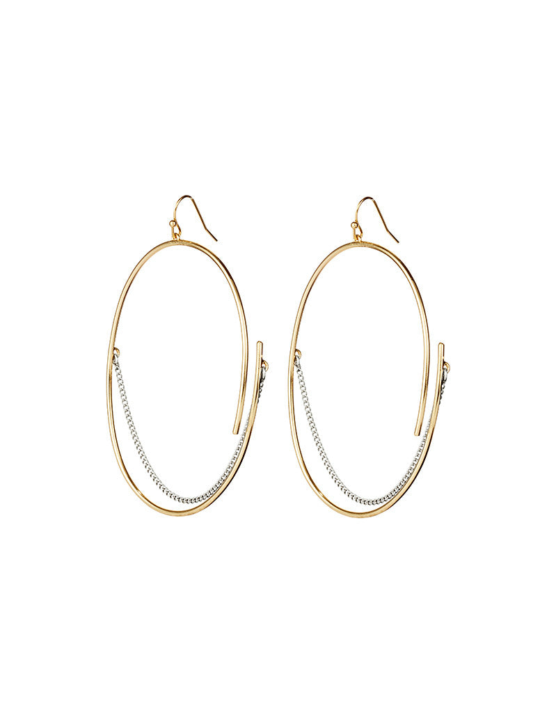 Jenny Bird Rill Hoops in Gold/Silver - SWANK - Jewelry - 1