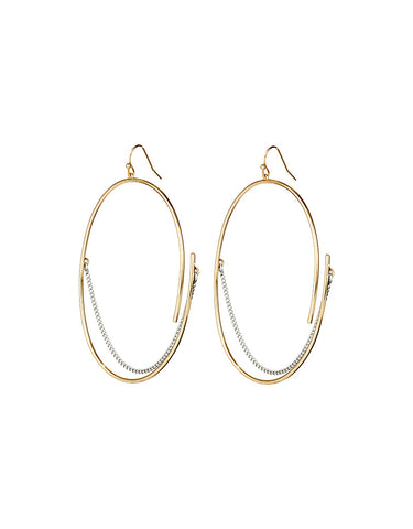 Vintage Snoot Chain Drop Earrings in Gold