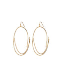 Jenny Bird Rill Hoops in High Polish Gold - SWANK - Jewelry - 1