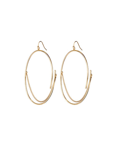 Jenny Bird Rill Hoops in High Polish Gold