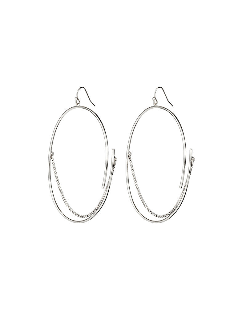 Jenny Bird Rill Hoops in High Polish Silver - SWANK - Jewelry - 1
