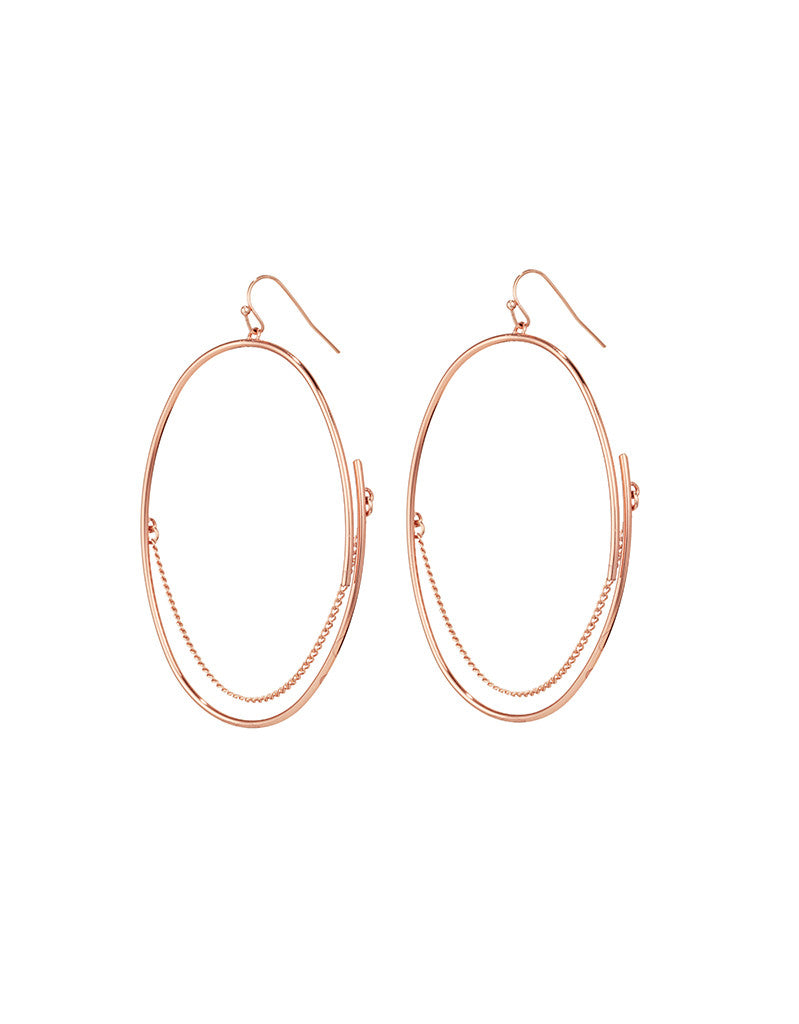 Jenny Bird Rill Hoops in Rose Gold - SWANK - Jewelry - 1