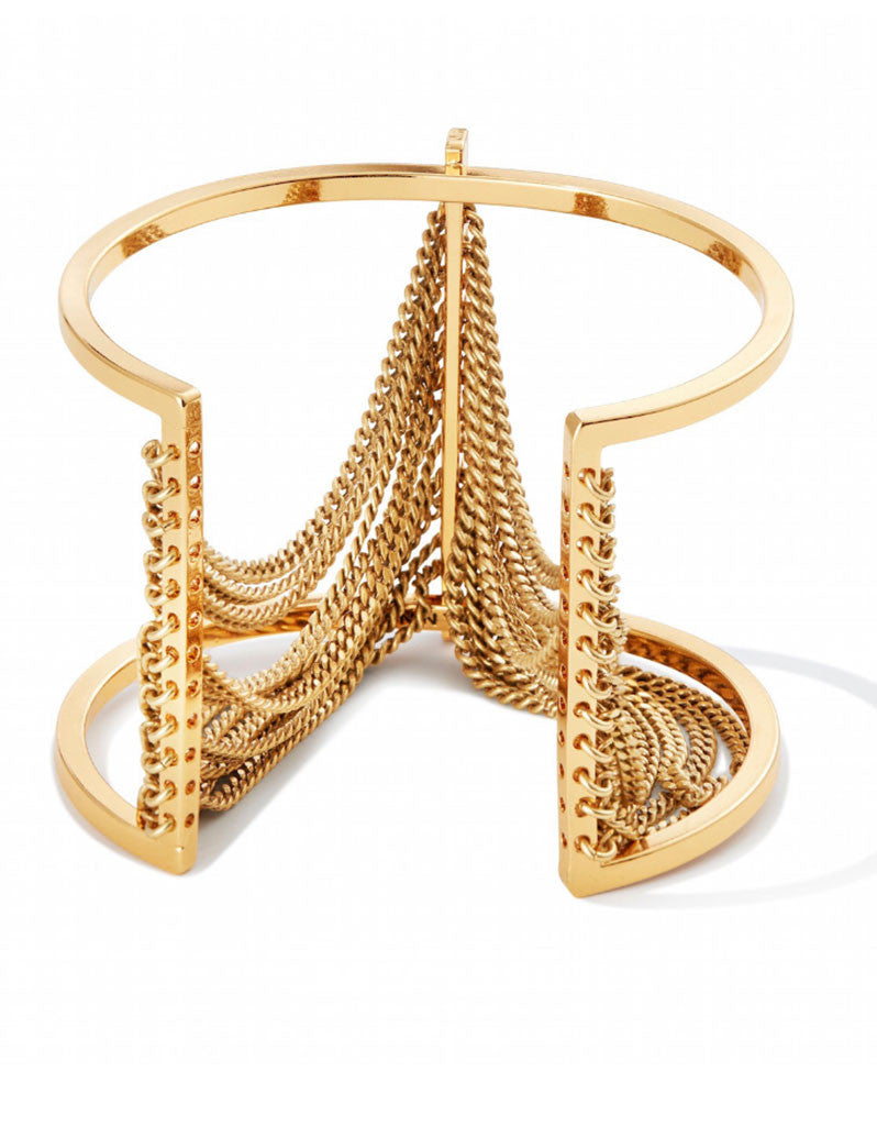 Jenny Bird Fallingwater Cuff in Gold - SWANK - Jewelry - 4