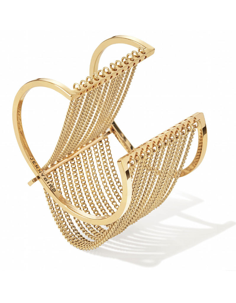 Jenny Bird Fallingwater Cuff in Gold - SWANK - Jewelry - 1