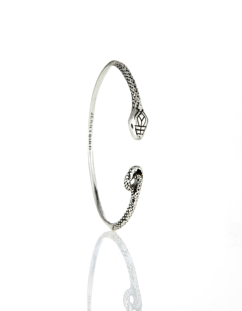 Jenny Bird Kundali Queen Bangle in Silver - SWANK - Jewelry - 1