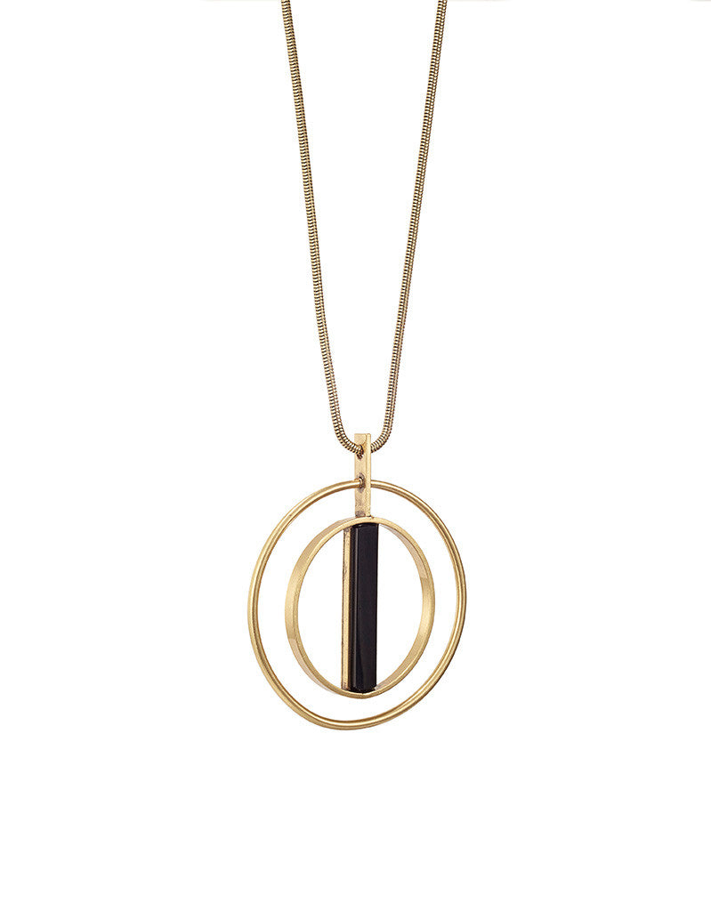 Jenny Bird Lennox Pendant in Gold - SWANK - Jewelry - 1