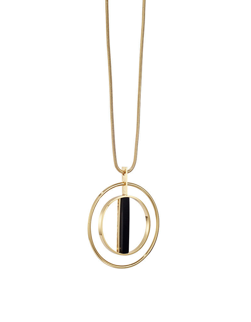 Jenny Bird Lennox Pendant in High Polish Gold - SWANK - Jewelry - 1