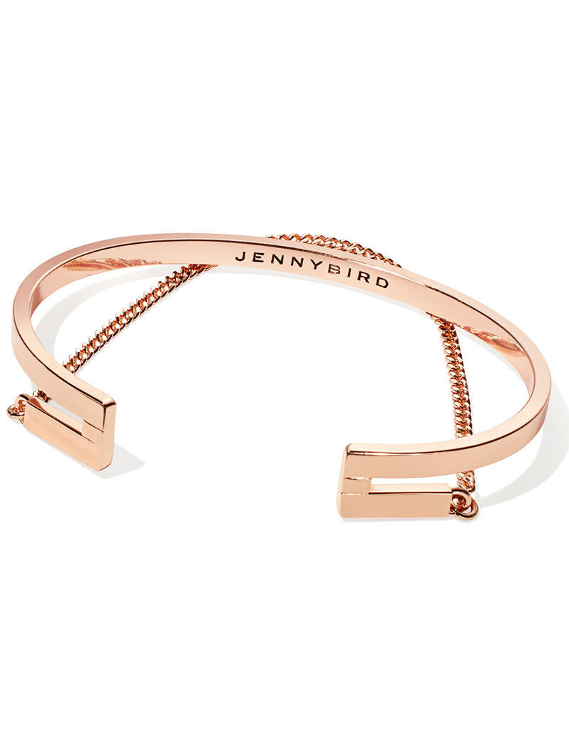 Jenny Bird Mia Cuff in Rose Gold - SWANK - Jewelry - 1