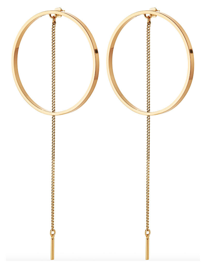Jenny Bird Rhine Hoops in Gold - SWANK - Jewelry - 1