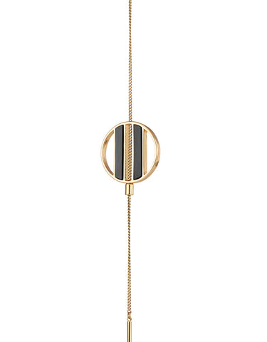 Jenny Bird Rhine Lariat Necklace in Gold/Black Resin