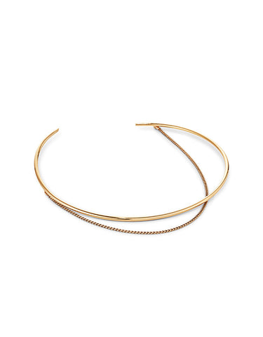 Jenny Bird Rill Choker in High Polish Gold