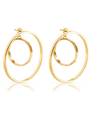 Jenny Bird Rise Hoops in Gold