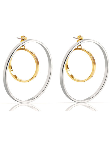 Jenny Bird Vela Earrings in Rhodium/Gold