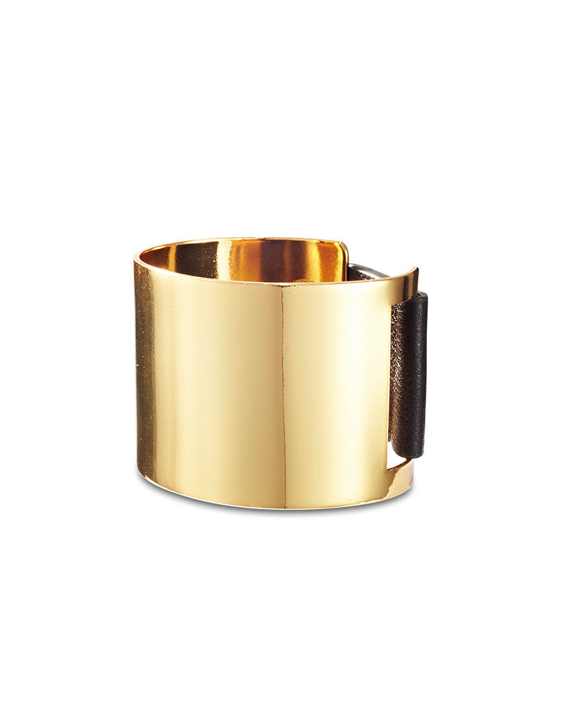 Jenny Bird THE Cuff in High Polish Gold - SWANK - Jewelry - 1