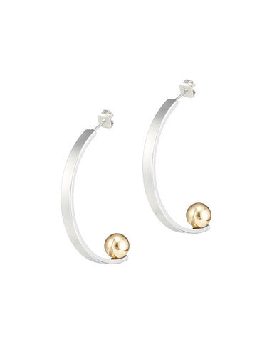 Jenny Bird Edie Hoops in Silver - Large