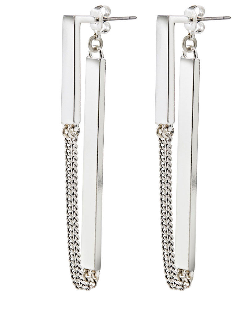 Jenny Bird Zenith Earrings in Silver - SWANK - Jewelry - 1