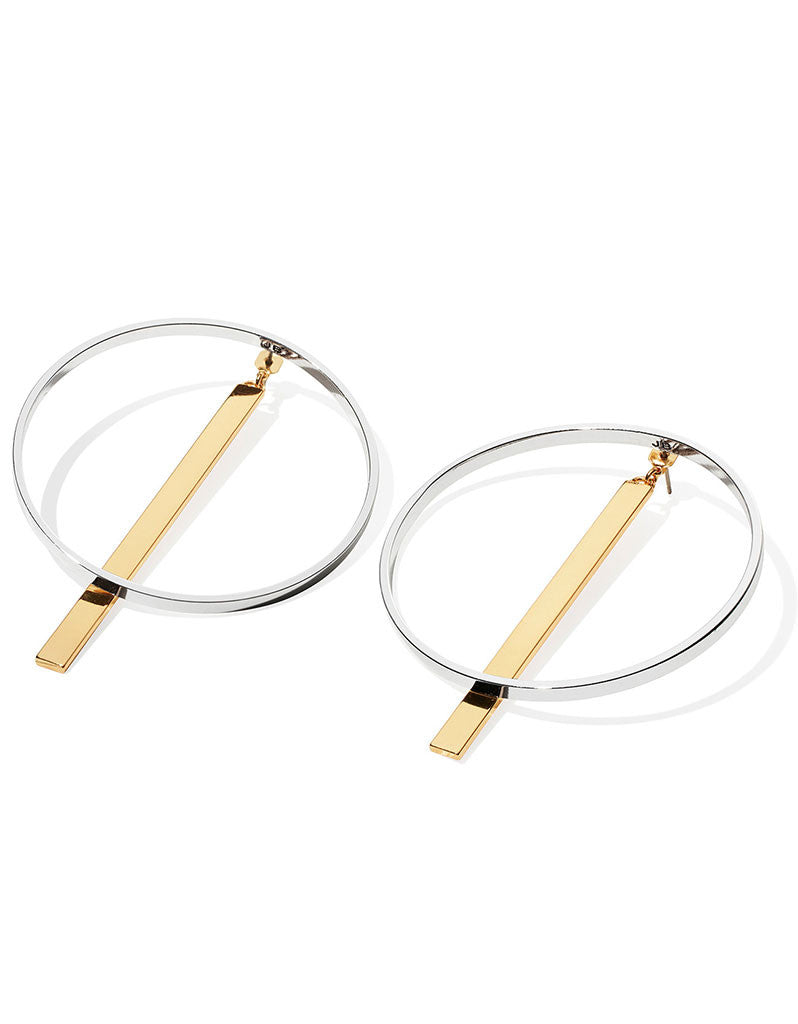 Jenny Bird Zenith Hoops in Gold/Silver - SWANK - Jewelry - 1