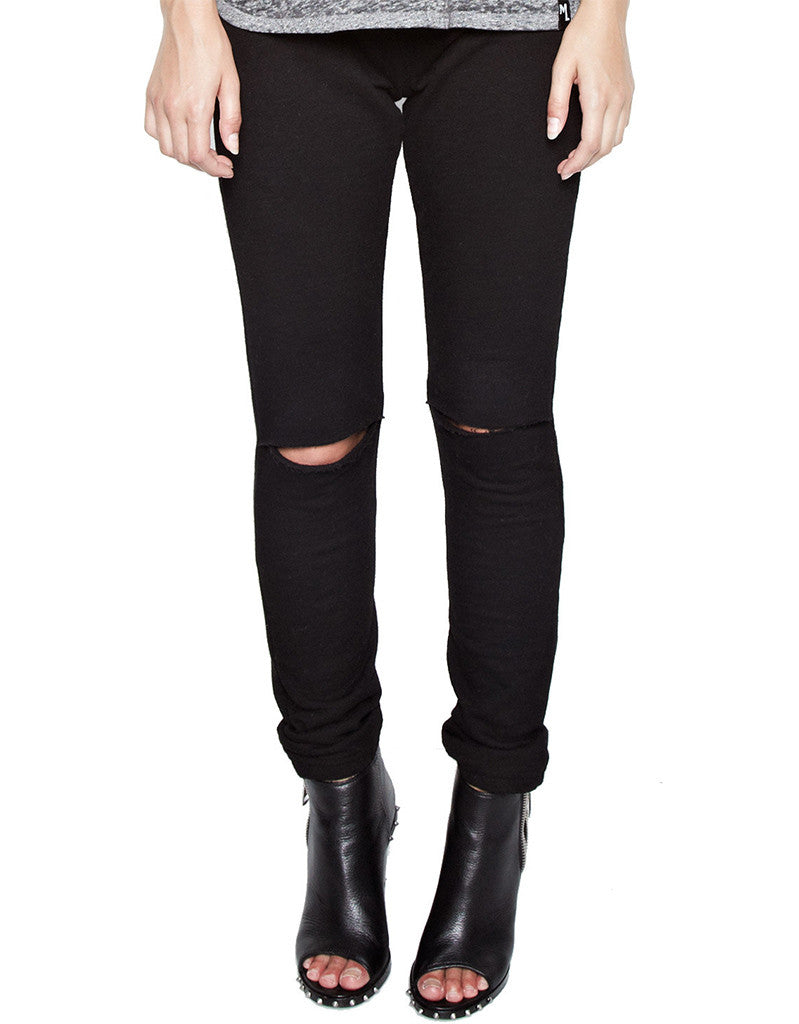 Michael Lauren Jonas Jogger w/Knee Slits in Black - SWANK - Pants - 2