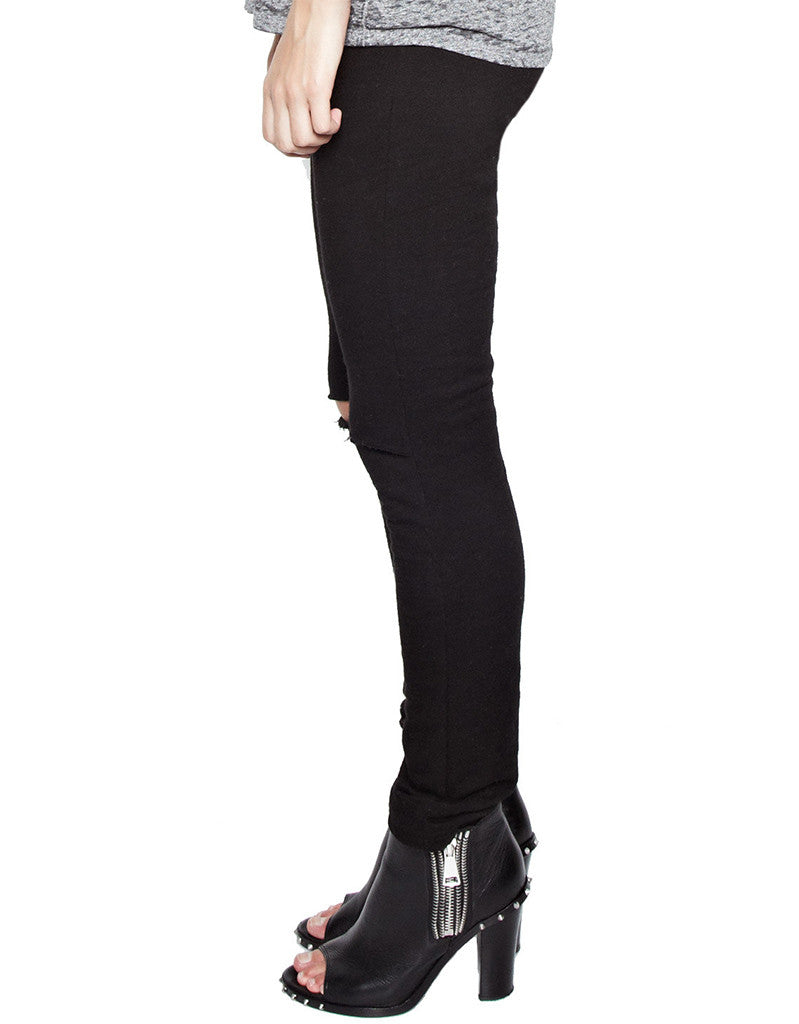 Michael Lauren Jonas Jogger w/Knee Slits in Black - SWANK - Pants - 3