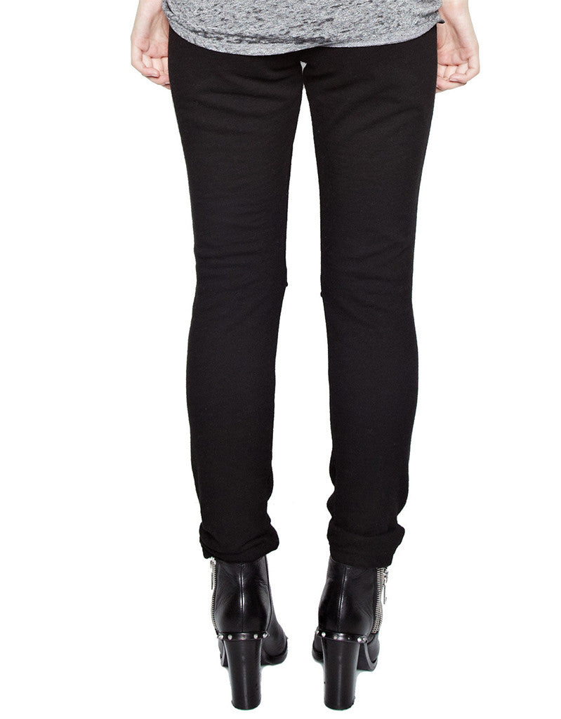 Michael Lauren Jonas Jogger w/Knee Slits in Black - SWANK - Pants - 4