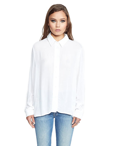 Michael Lauren Keller Button Up Shirt in White