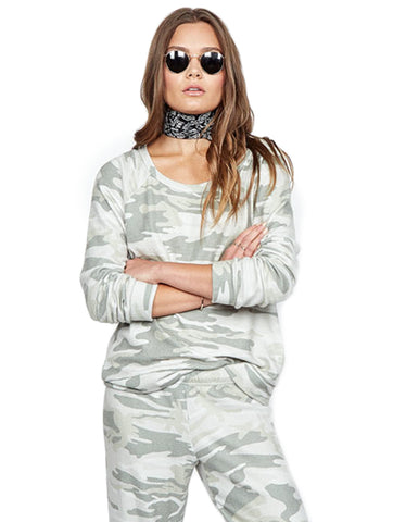 Michael Lauren Kenny Pullover in Green Camo