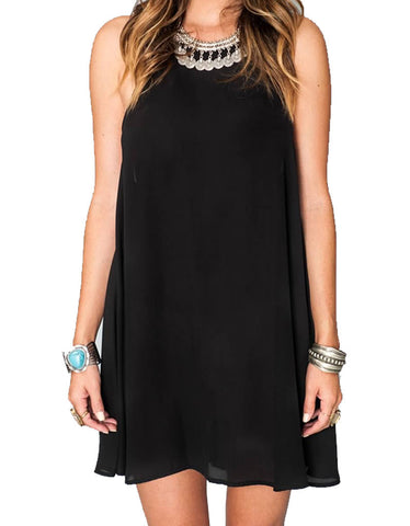 Show Me Your Mumu Katy Halter Dress in Black Crisp