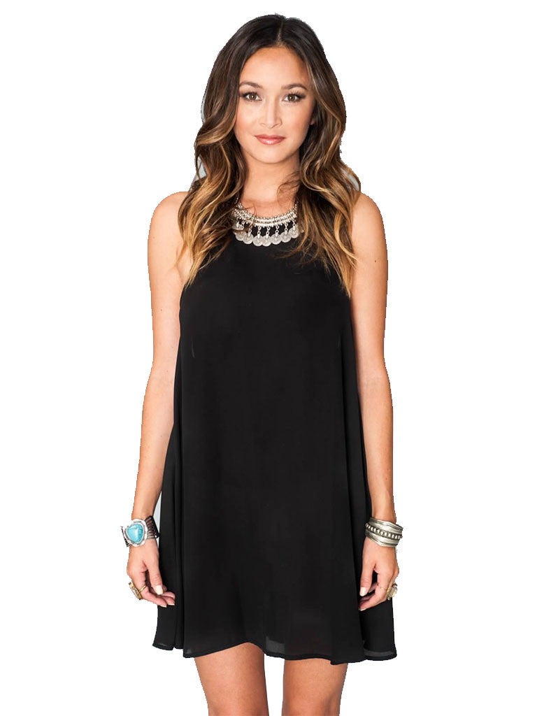 Show Me Your Mumu Katy Halter Dress in Black Crisp - SWANK - Dresses - 1