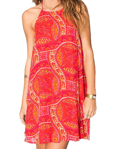 Show Me Your Mumu Katy Halter Dress in Pink Colada