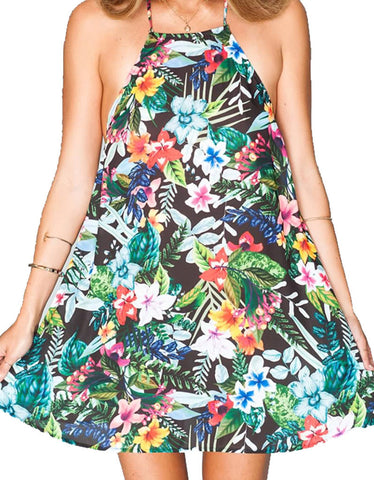 Show Me Your Mumu Katy Halter Dress in Tropical Lovefest