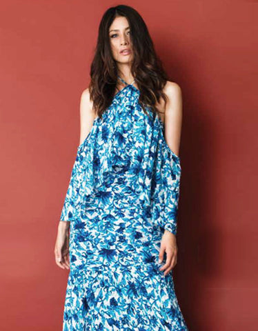Stella & Amelia Leandra Cold Shoulder Maxi Dress