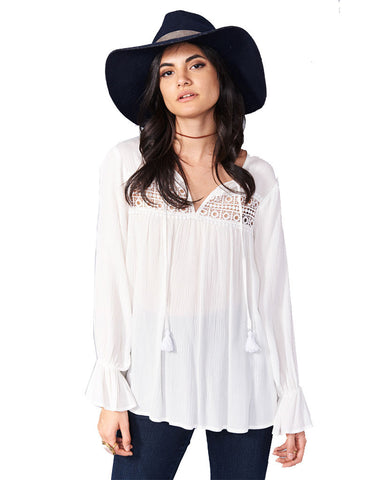 Show Me Your Mumu Lily Grace Tunic in White Cloud