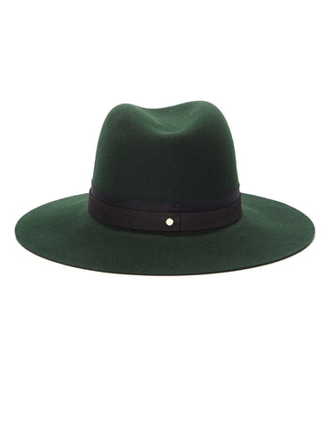 Janessa Leone Linda Hat in Deep Green