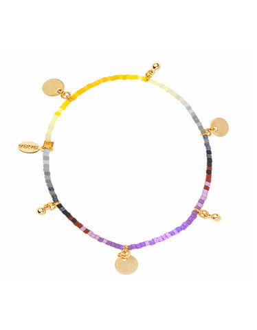 Shashi Ombre Lilu Bracelet in Purple/Yellow