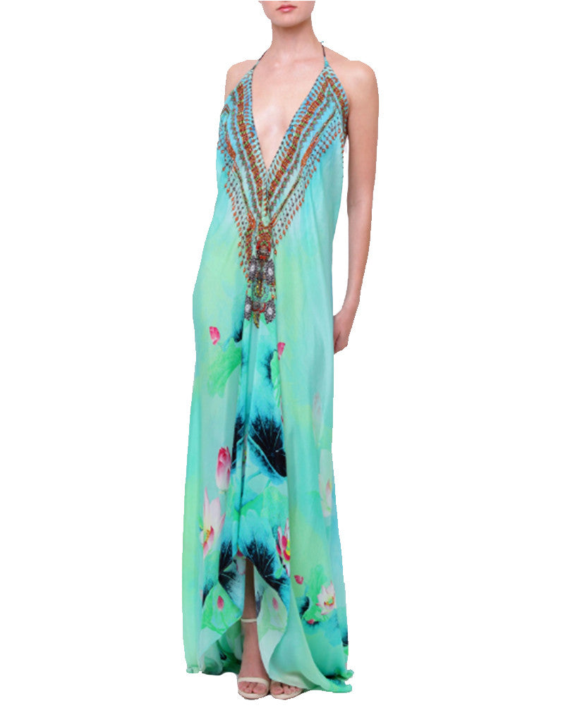 Shahida Parides Lotus 3-Way Style Dress in Aqua - SWANK - Dresses - 1