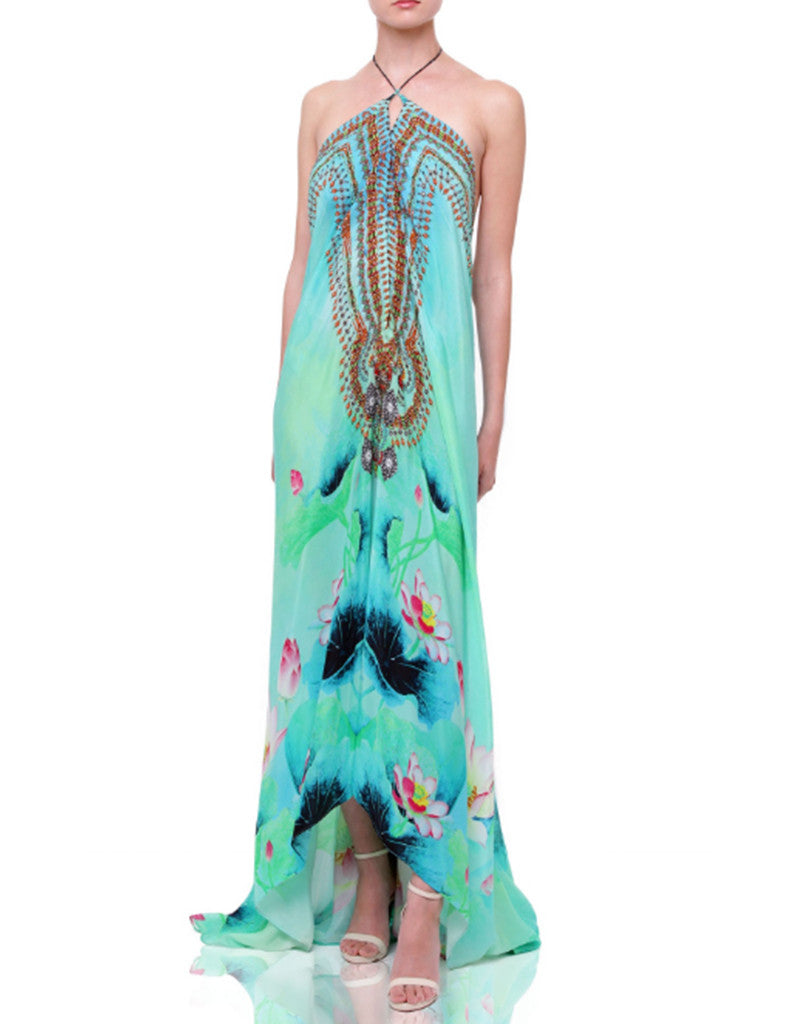 Shahida Parides Lotus 3-Way Style Dress in Aqua - SWANK - Dresses - 2