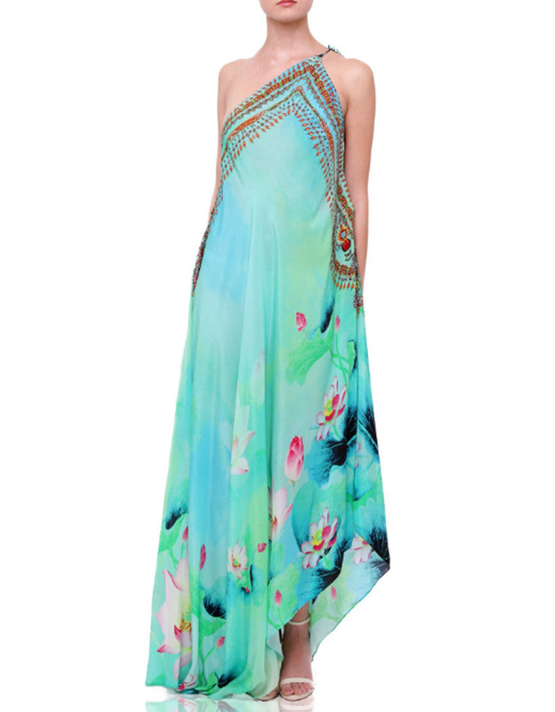 Shahida Parides Lotus 3-Way Style Dress in Aqua - SWANK - Dresses - 3