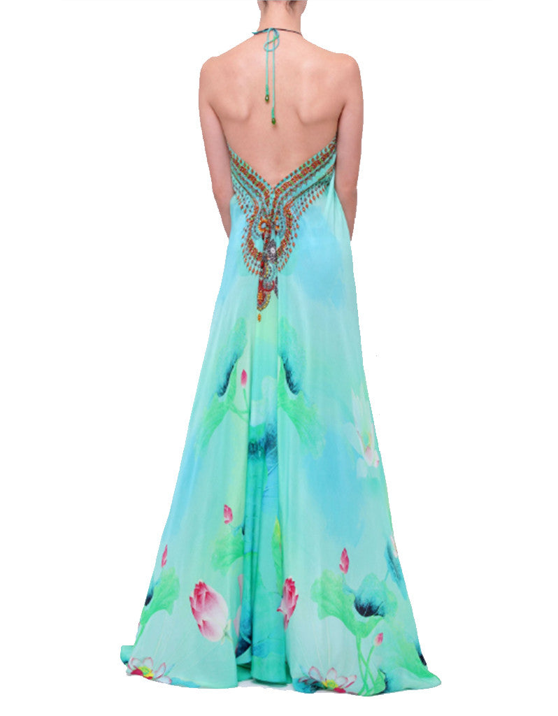 Shahida Parides Lotus 3-Way Style Dress in Aqua - SWANK - Dresses - 4