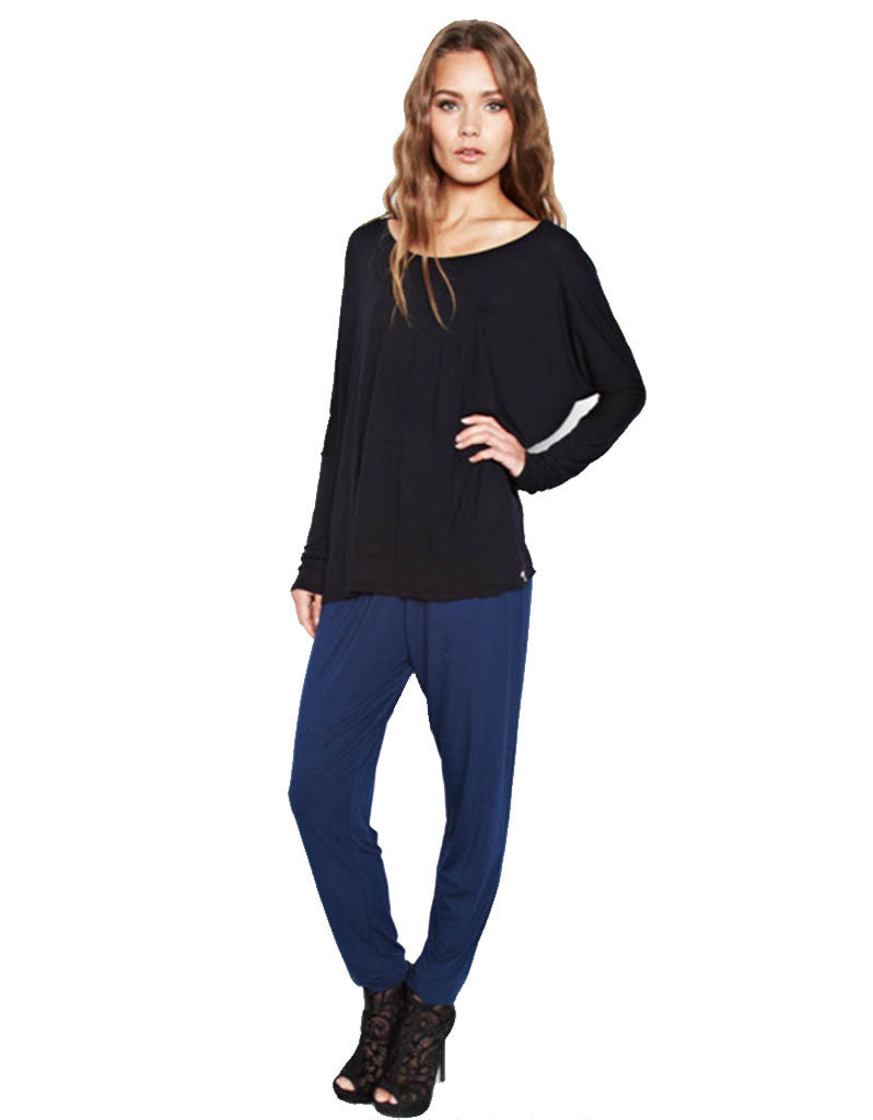 Michael Lauren Malcom Oversized Long Sleeve Tee - SWANK - Tops - 2