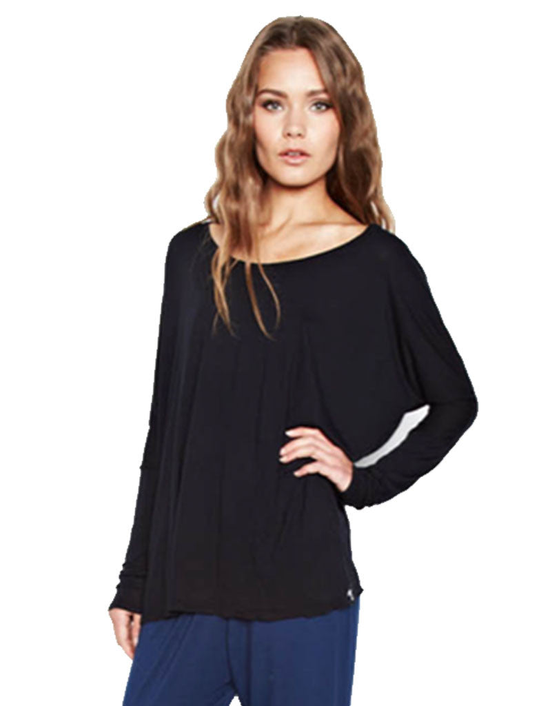Michael Lauren Malcom Oversized Long Sleeve Tee - SWANK - Tops - 1