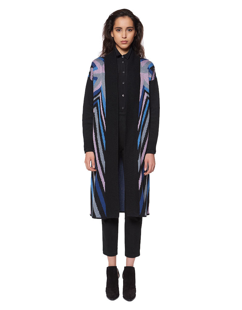 Mara Hoffman Compass Knit Long Cardigan - SWANK - Outerwear - 1
